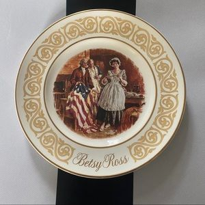 Collectible Betsy Ross plate.